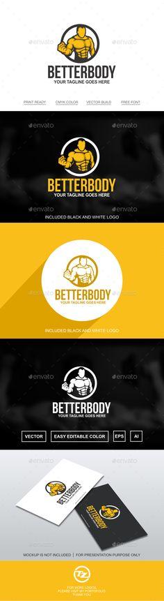Fitness Logo — Vector EPS #gym #bodybuilders • Available here → https://graphicriver.net/item/fitness-logo/17886606?ref=pxcr