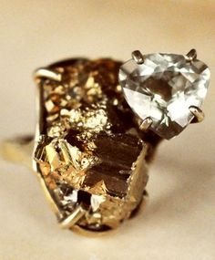 Unearthen Amethyst & Pyrite Volantis Ring