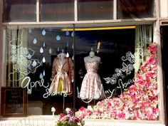 April Showers bring May Flowers window display
