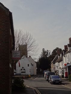 View up Sheep Street in Highworth 2014.
