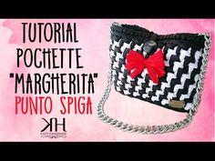 "❀ [Tutorial #8] Pochette ""Margherita""   Punto spiga   Punto Katiuscia    Uncinetto/Crochet ❀ - YouTube"