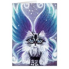 Lucy Fairy Cat Card