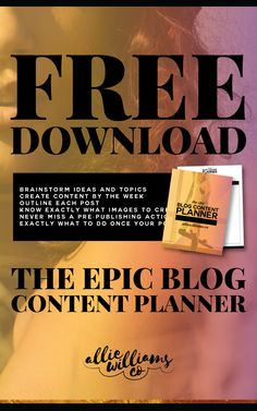 Snag a copy of the FREE epic blog content planner! :) Exactly what you need to help you plan your next blog post, write content quickly, and keep yourself organized.