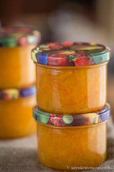 Orange jam Narancslekvár Marmalade - This year& orange jam set is ready Orange Jam, Bottles And Jars, Dessert Recipes, Desserts, Food Storage, Coffee Cans, Healthy Snacks, Healthy Living, Easy Meals