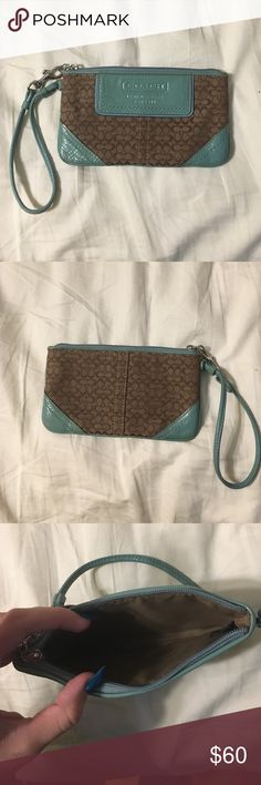 Coach wristlet Super cute coach wristlet. Great to store cards, cash, or phone in on the go. Coach Bags Clutches & Wristlets