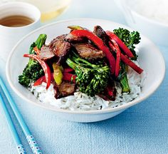 Beef and black bean stir-fry - Healthy Food Guide Healthy Lamb Recipes, Healthy Chinese Recipes, Meat Recipes, Healthy Food, Healthy Dinners, Yummy Food, Delicious Recipes, Tasty, Lamb Stir Fry