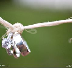 "Such a perfect idea for the rings! ""tying the knot"" ;)"