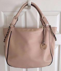 NWOT Fashion MK Large Tote Womens Faux Leather Satchel Handbag Tan w/Brown Trim #Unbranded #TotesShoppers