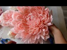 ГИГАНТСКИЕ ростовые цветы. Пион. Часть I / Free Standing Giant Flower | Giant Paper Peony | Part 1 - YouTube