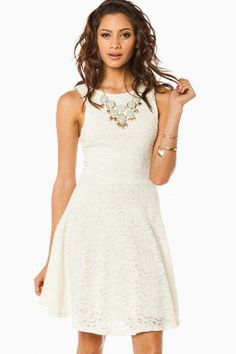 Freely Lace Dress in Off White