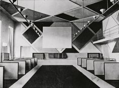 The cinema and ballroom of the Cafe Aubette designed by Theo van Doesburg, photographed in 1928 Courtesy Musées de Strasbourg