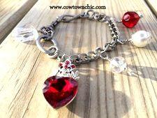Queen of Hearts Charm Bracelet #red #valentine #bracelet #madentexas #charmbracelet
