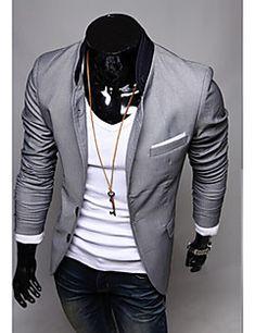 Charme dos homens Casual Slim Fit Um Botão Terno Blazer Moda New Elegante Casaco Formal Casaco Tops