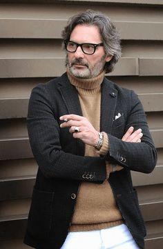 ジャケット着こなしピッティウオモのマルコザンバルド氏