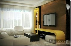 Laca amarela na sala