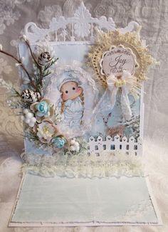 Magnolia Tilda Christmas Easel Card