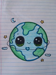 """From 'Draw So Cute' The Earth – Aus """"Draw So Cute"""" The Earth – # # The post Aus """"Draw So Cute"""" The Earth – # # … appeared first on Frisuren Tips - People Drawing Aus Cute Disney Drawings, Cute Easy Drawings, Cute Kawaii Drawings, Cool Art Drawings, Pencil Art Drawings, Art Drawings Sketches, Doodle Drawings, Cartoon Drawings, Doodle Art"""