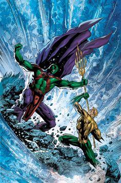 Aquaman vs Martian Manhunter - Paul Pelletier