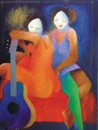 Artodyssey: Roberto Chichorro Modern Art, Contemporary Art, Music Illustration, Illustrations, Cubism, African, Abstract, Drawings, Portugal