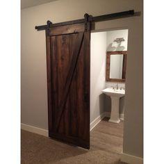 350 + 175 shipping on etsy Vintage Custom Built Sliding Barn Door - Z Design - Walnut