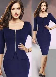 Polyester Solid Long Sleeve Knee-Length Elegant Dresses