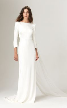 online shopping for Savannah Miller Gwendolyn Long Sleeve Open Back Wedding Dress from top store. See new offer for Savannah Miller Gwendolyn Long Sleeve Open Back Wedding Dress Plain Wedding Dress, Big Wedding Dresses, Western Wedding Dresses, Open Back Wedding Dress, Classic Wedding Dress, Wedding Dress Trends, Long Sleeve Wedding, Bridal Dresses, Wedding Pics