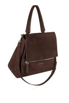 Givenchy | Sac porté épaule Pandora Pure moyen modèle en nubuck chocolat | NET-A-PORTER.COM