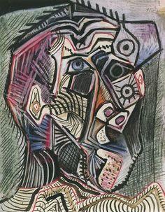 picasso zelfportret12 // Gedurende zijn carrière maakte Picasso vele zelfportretten - Bekijk ze hier