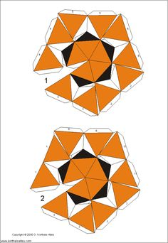 Paper Models of Polyhedra   Net compound of truncated icosahedron and pentakisdodecahedron