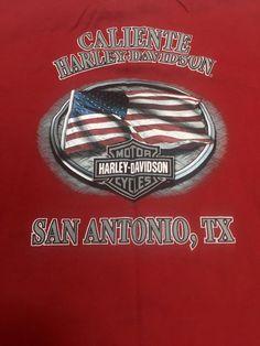 Harley Davidson L Men's Red T-Shirt San Antonio TX Pocket Tee Short Sleeve #HarleyDavidson #GraphicTee