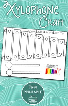 If you're looking for a craft to go along with the letter X, look no further. This craft is pretty straight-forward. Preschool Music Activities, Free Preschool, Alphabet Activities, Preschool Learning, Preschool Activities, Teaching The Alphabet, Teaching Music, Music Week, Cookie Sheets