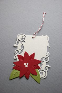 Holiday tags by Lifestyle Crafts using the 'Tags' die. Compatible with lead die-cutting machines. #christmas