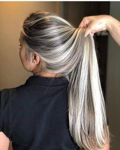 Ash Blonde Hair Balayage, Dark Brown Hair With Blonde Highlights, Blonde Hair Looks, Platinum Blonde Hair, Hair Color Highlights, Blonde Hair Lowlights, Blonde Grise, Best Hair Dye, Dyed Hair