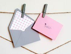 Mini black white grey personalized gift cards with lined mini pink grey personalized gift cards with lined envelopes pink heart gift cards custom gift card set heart gift cards 10 pc set negle Gallery