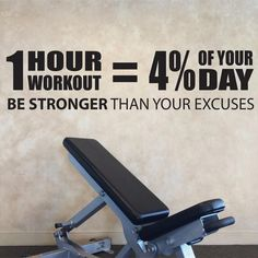 Fitness Workout Wall Decal Sticker - Be Stronger Than Your Excuses