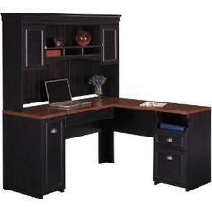 Bush Furniture L Shaped Desk with Hutch