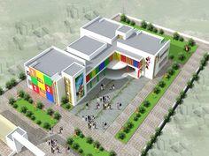Architecture Model Making, Architecture Concept Drawings, Eco Architecture, Education Architecture, School Architecture, School Floor Plan, School Plan, School Building Design, School Design