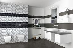 #blackandwhite #bathroom #grout #starlike #decor