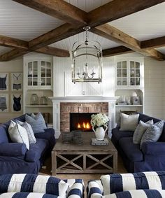 """""""When a pendant is hung in the centre of a seating group, such as over a sofa or coffee table, don't be afraid to hang your light fairly low."""""""