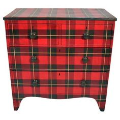 89820e519a6 Check out this item at One Kings Lane! Painted Tartan Chest Wallace Tartan