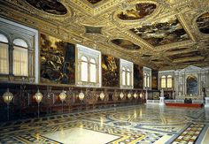 Page of View of the Sala Superiore by TINTORETTO in the Web Gallery of Art, a searchable image collection and database of European painting, sculpture and architecture San Rocco, Web Gallery, European Paintings, Most Beautiful Cities, Places Ive Been, Louvre, Around The Worlds, Architecture, Building
