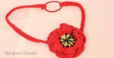 Crochet Poppy flower headband, months by Crochet Poppy, Crochet Flowers, Knitted Poppies, Poppy Brooches, Crochet Motif, Beautiful Crochet, Special Gifts, Crochet Necklace, 12 Months