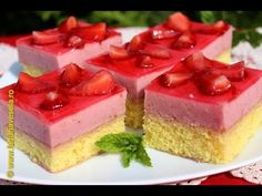 Prajitura cu capsune - YouTube Sweets Recipes, Cake Recipes, Romanian Desserts, Food Cakes, Biscuits, Cheesecake, Videos, Youtube, Sweets
