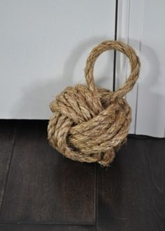 Monkey's Fist, a.k.a. nautical rope doorstop
