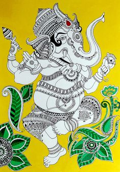 Image result for madhubani ganesha