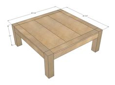 This is going to be my new coffee table.   Ana White | Build a iTable | Free and Easy DIY Project and Furniture Plans