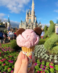 Walt Disney World is a magical place for so many reasons, one of the main ones being the next-level food. And if you're traveling there this Summer, you're Disney Drinks, Disney Desserts, Disney Snacks, Frozen Desserts, Disney Recipes, Comida Disney World, Disney World Food, Walt Disney World, Comida Disneyland