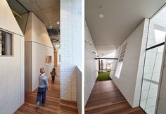 An urban situated centre provides a miniature city for its children Learning Centers, Early Learning, Plywood House, Australia House, Courtyard House, Stone Houses, Semi Detached, Big Houses, House Front