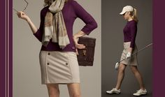 7bde74c62a Like the skirt   sweater Cute Golf Outfit