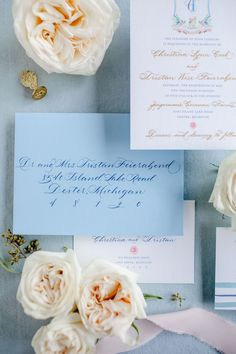 BLOG: How to assemble wedding invitations - Leah E. Moss Designs, envelope calligraphy, blue invitation, luxury invitation, luxury wedding invitations, elegant wedding invitations, traditional wedding invitations, assembling invitations Foil Stamped Wedding Invitations, Letterpress Invitations, Luxury Wedding Invitations, Watercolor Invitations, Elegant Wedding Invitations, Custom Invitations, Invitation Design, Wedding Stationery, Invites